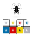 Cockroach icon vector image