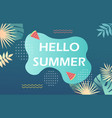 colorful poster with hello summer lettering vector image