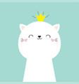Cute cat kitten face head icon kawaii kitty