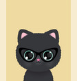 cute little cat in glasses poster vector image