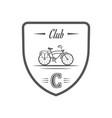 cycling club logotype vector image vector image