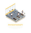 disabled rehabilitation isometric composition vector image vector image