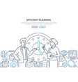efficient planning - modern line design style vector image vector image