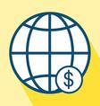 Financial Center Icon vector image vector image