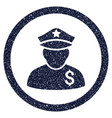 financial policeman rounded grainy icon vector image