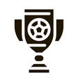 football champion cup icon vector image vector image