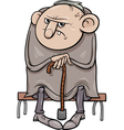 grumpy old man cartoon vector image vector image