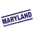 grunge textured maryland stamp seal vector image