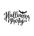 halloween party poster hand drawn lettering on vector image vector image