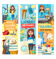 home cleaning laundry and dish washing service vector image
