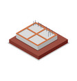 house foundation pouring isometric 3d icon vector image vector image