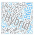 Hybrid vigour or heterosis with mixed breed dogs vector image vector image