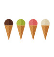 ice cream flat icons vector image