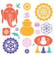 indian icons collection vector image