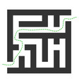 labyrinth route icon vector image