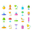 lamp icon set cartoon style vector image vector image