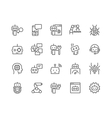 Line Bot Icons vector image