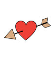 love cupid hearts pierced arrow romantic passion vector image