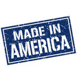 made in america stamp vector image vector image