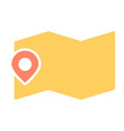 map location with pin icon minimal pictogram vector image vector image