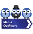 MENS OUTFITTERS vector image