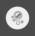 mirror icon sign symbol vector image vector image