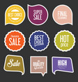 modern sale stickers and tags collection 3 vector image vector image