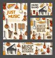 music instruments jazz orchestra folk concert vector image vector image