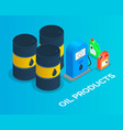 oil containers and canisters gasoline diesel vector image