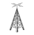 old radio tower sketch engraving vector image vector image