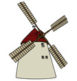 Old stone windmill vector image vector image
