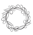 Olive wreath frame