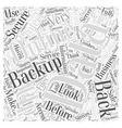 Online Data Backups Word Cloud Concept vector image vector image