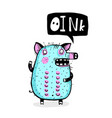 piggy talking oink funny cartoon vector image vector image