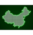 Pixel map of China vector image vector image