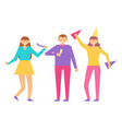positive people on birthday party fest anniversary vector image