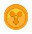 Quarkcoin money golden icon vector image