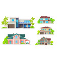 residential architecture mansion houses villas vector image vector image