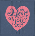 Romantic quote I heart you vector image vector image
