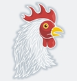 rooster head gray vector image vector image