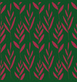 rustic seamless pattern with leaves vector image