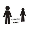 safe distance vector image vector image