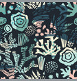 sea seamless pattern with hand drawn vector image vector image