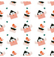 seamless pattern with mails and cute birds vector image vector image