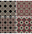 Set of Seamless Colorful Retro Pattern Backgrounds vector image vector image