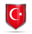Shield with flag Turkey vector image