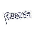 space a hand-drawn flag with word space vector image vector image