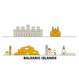 spain balearis islands flat landmarks vector image vector image