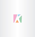 square letter k logo k icon design vector image