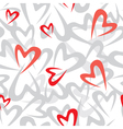 stilized heart pattern vector image vector image